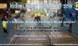 Indian Open Pickleball 2018